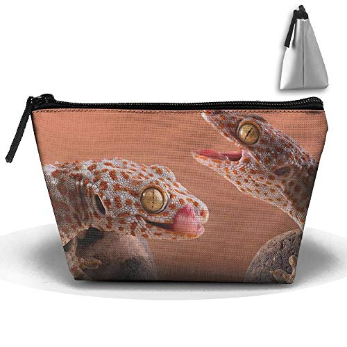 Camo Make-up-kit (Toiletry Pouch Makeup Travel Cosmetic Bag Gecko Lizard Portable Phone Coin Storage makeup kit bag)