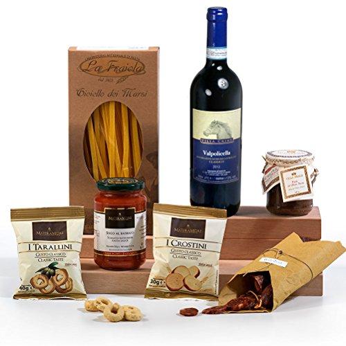 Hay Hampers Mamma Mia Italian Food and Wine Gift Hamper Box