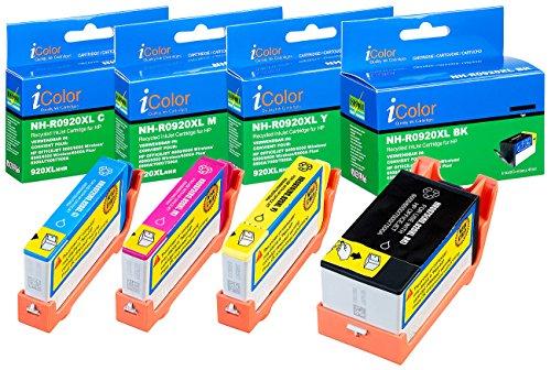 iColor Druckerpatronen: ColorPack für HP (ersetzt No.920XL BK/C/M/Y) (Multipack kompatible Druckerpatronen für Tintenstrahldrucker, HP)