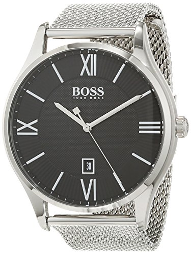 Hugo BOSS Unisex-Adult Analogue Classic Quartz Watch with Stainless Steel Strap 1513601