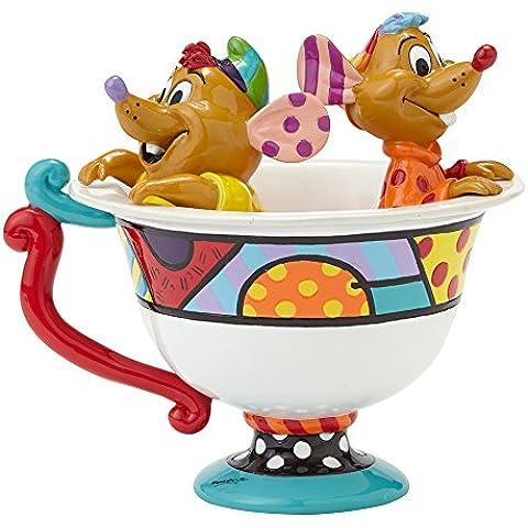 Enesco 4044110 Disney Figurina, Jaq and Gus nella Tassa, Ceramica, 12,5 cm