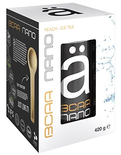 ä BCAA Nano 2:1:1 Aminosäuren Mit Elektrolyten Muskelaufbau Regeneration Muskelschutz Bodybuilding 420g (Peach Ice Tea - Pfirsich Eistee) Nano 2.