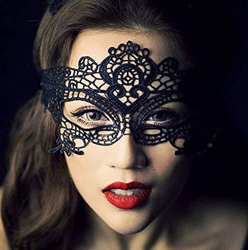 Maske Venezianische Verkleidung Carnival Party vor der Augen der Frauen (Schwarz) ()