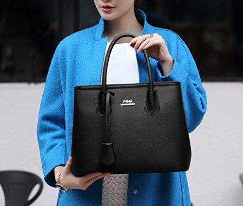Borsa A Tracolla Tote Bag Donna Elegante Borsa Shopper Borsa A Tracolla In Pelle PU Borsa A Mano Borsa Donna Blue