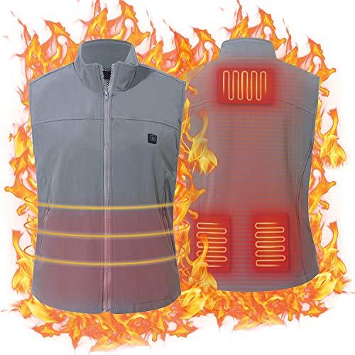 Keymao Gilet Chauffant Homme Femme Chauds Gilet Chauffé Température Réglable USB Hiver Vêtements pour Ski Camping Randonnée Intérieur et Extérieur(Ne Pas inclure la Batterie