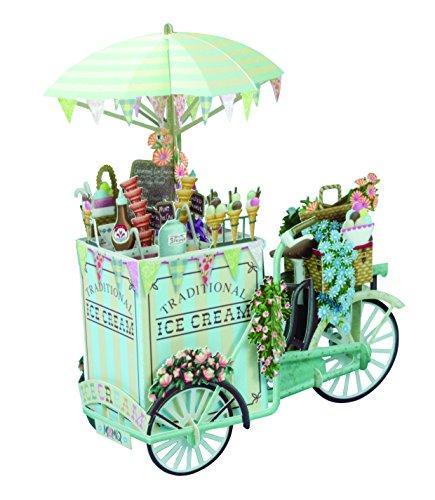 Papier d 'Art 3D am Tag der Hochzeit Pop Up Grußkarte Ice Cream Vendor