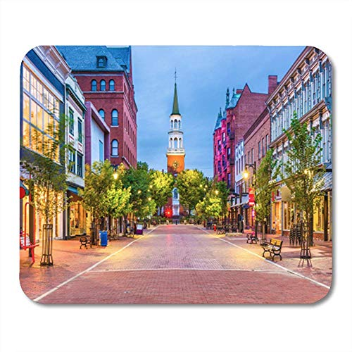 AOCCK Gaming Mauspads, Gaming Mouse Pad Town Burlington Vermont USA at Church Street Marketplace Scenery 11.8