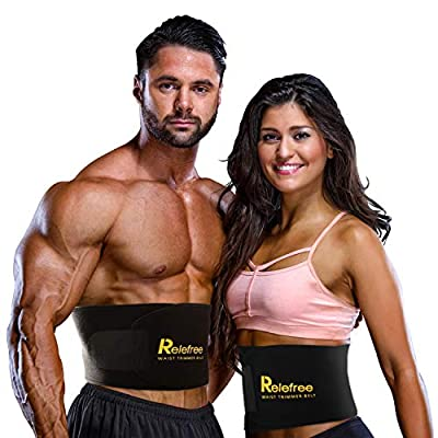 Waist Trimmer Sweat Belt for Weight Loss Relefree Adjustable Belly Fat Burner Waist Trainer Slimming Belt for Men & Women