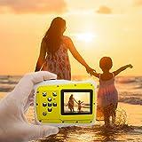 Wasserdichter digitaler HD unter Wasser, staubdicht, mit Riemen und USB-Kabel Tauchen Schwimmen stranden Kinder Kamera 5MP 3m, wasserdicht, 720p, 12MP 2.0Zoll wtdc-5262j TFT LCD-Bildschirm gelb