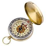 ARINO Taschenkompass Wasserdichter Messingkompass Marschkompass Klassischer Sprungdeckel Compass mit Leuchtziffern