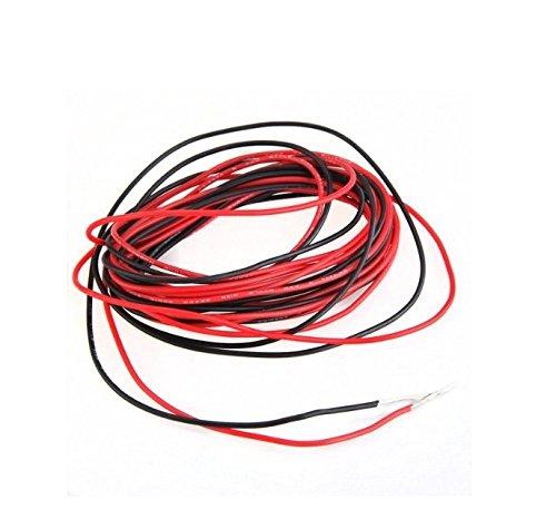 Hemore 2X 3M 22 Gauge Silikonkabel AWG Rot Schwarz flexibel [misc.]