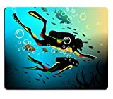 Liili mouse pad in gomma naturale Mousepad Divers in a Deep immersione Image ID 16983977
