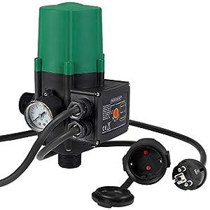 Bomba de presión de agua con indicador de presión | presión Bar| Interuptor | con cable | interuptor automático | Medidas: 22,5 x 14, 5 x 12 cm |
