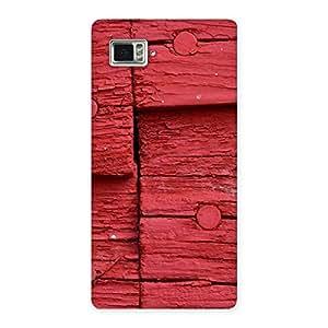 Red Nailed Wood Designer Back Case Cover for Vibe Z2 Pro K920