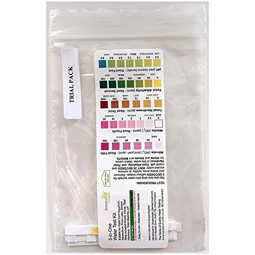 Simplex Health Wassertest 5-in-Einem (5 Teststreifen) Testet Ihr Wasser auf Nitrat & Nitrit, Gesamthärte (GH), pH & Alkalinität -