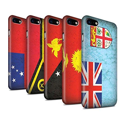STUFF4 Matte Snap-On Hülle / Case für Apple iPhone 8 / Papua-Neuguinea Muster / Ozeanische Flagge Kollektion Pack 5pcs