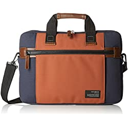 "Samsonite Sideways Laptop Sleeve 15.6"" Bolso Bandolera, 8.9 Litros, Color Azul/Naranja"