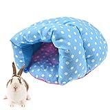 FLAdorepet Klein Tier Hamster Slipper Bett für Käfig Kaninchen Meerschweinchen Bett für Eichhörnchen Ratte Chinchilla