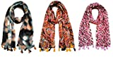 Printed Poly Cotton Scarf and Stoles for Women ( Combo of three stoles)