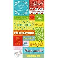 Artemio Embellissement autocollants amusants étiquettes textes Multicolore