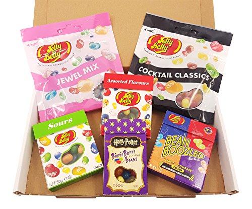 Kleiner American Candy Geschenkset mit Jelly Belly Beans   Auswahl an amerikanischen Süßigkeiten   Beinhaltet u.a.Harry Potter Bertie Botts   USA Jelly Belly Süßigkeiten in einer tollen retro Geschenkebox verpackt