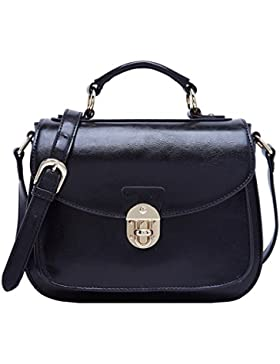 BOYATU Womens Leder Handtaschen Umhängetasche Top Griff Tote Satchel für Damen