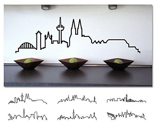 plot4u Wandtattoo Skyline Kontur deutscher und internatinaler Städte