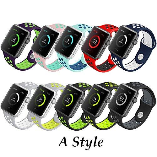 Style-A-Yincol-Apple-Watch-Armband-Series-1-Series-2-Fashion-Weiches-Silikon-Sportarmband-Ersatzarmband-Wrist-Band-fr-iwatch-1-iwatch-2-Uhr-Verstellbar