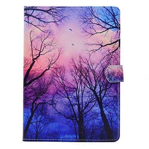 Hozor Apple iPad Air 2/iPad 6 (9.7 zoll) Hülle - Auto Sleep / Wake up und Ständer Funktion Smart Case Cover Schutzhülle Flip Bookcase Etui Leder Tasche mit Frei 1 x Stift [Rosa Wolken]