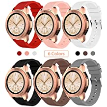 Sundaree Correa Galaxy Watch 42MM/Gear S2 Classic,6 Colores Silicona Reemplazo Correas 20MM