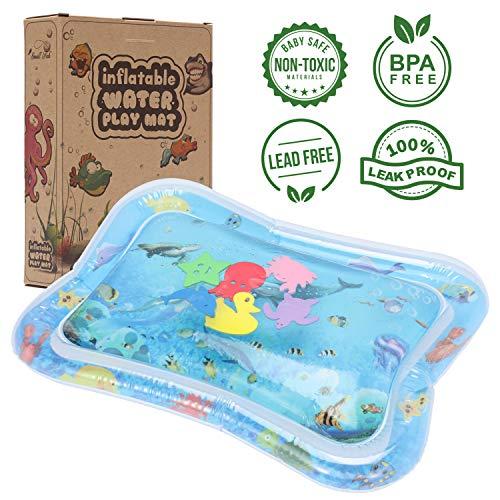 Baby Aufblasbare Wasserspielmatte für Bauchzeit Spielaktivität, Super Motorikspielzeug - Auslaufsich, BPA...