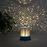 Murieo Sternenhimmel projektor lampe LED Nachtlicht Sterne Lampe Schlaf USB Bunte Licht Lampe 11,7 x 10,7 x 8,6 cm (Blau)