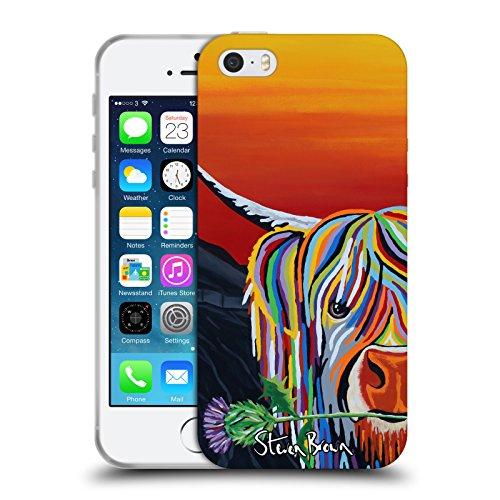 Ufficiale Steven Brown William Rabbie Wallace Mccoo Mucca Delle Montagne 2 Cover Morbida In Gel Per Apple iPhone X Auld Scottie Mccoo