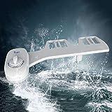 Ugello singolo Manuale non elettrico Bagno WC Bidet Sedile Attacco Pulizia acqua fresca Bidet Spruzzatore Flusher, bianco