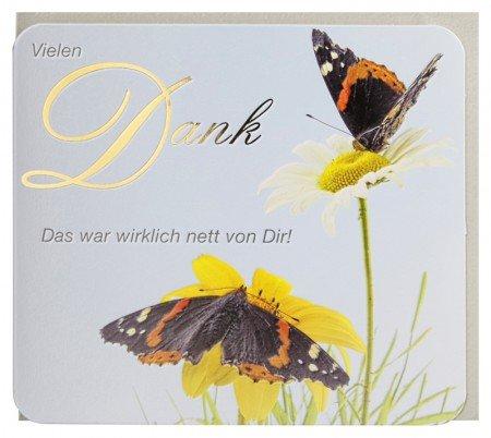 Dankkarte Wirklich nett von Dir Schmetterling (Frühling Schlagwörter)