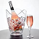 bar@drinkstuff Acryl-Sektkübel im Kurven-Design, bruchfesterKunststoff-Champagner-Kühler.