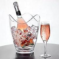 Design unique de jante festonnée. Le seau à vin incurvé apporte de l'élégance tout en refroidissant votre vin ou champagne. Parfait pour contenir jusqu'à 2 bouteilles de 75cl. En acrylique sans BPA.Résiste aux chocs et incassable. Lavage à la main ...
