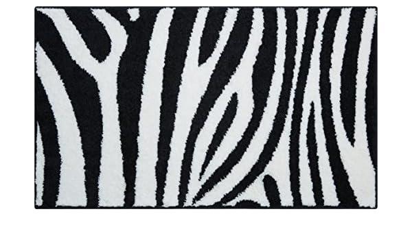 Fußboden Braun Zebra ~ Linea due badteppich 100% polyacryl ultra soft rutschfest zebra