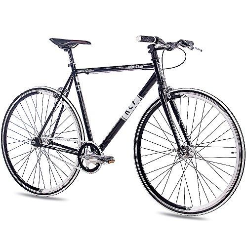 "28\"" Zoll FIXIE RENNRAD URBANRAD SINGLE SPEED KCP FG1 FLAT 2016 FIXED GEAR schwarz, Rahmengröße:59 cm"