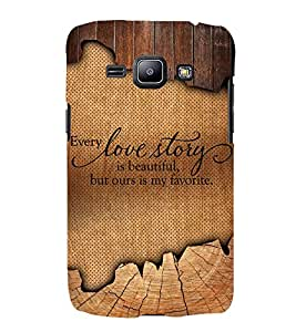 Beautiful Love Story Quote 3D Hard Polycarbonate Designer Back Case Cover for Samsung Galaxy J1 (2016) :: Samsung Galaxy J1 (2016) J120H