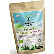 Organic Chlorella Tablets - High in Chlorophyll, Protein, Iron and Amino Acids - UK Certified Organic Broken Cell Wall Chlorella Tablets by TheHealthyTree Company