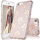 iPhone 6 Hülle,iPhone 6S Hülle,DOUJIAZ Flexible TPU Silikon Schutz Handy Hülle Handytasche HandyHülle Etui Schale Ca Cover Tasche Schutzhülle für Apple iPhone 6/6S(Rose Gold Peach Blossom)