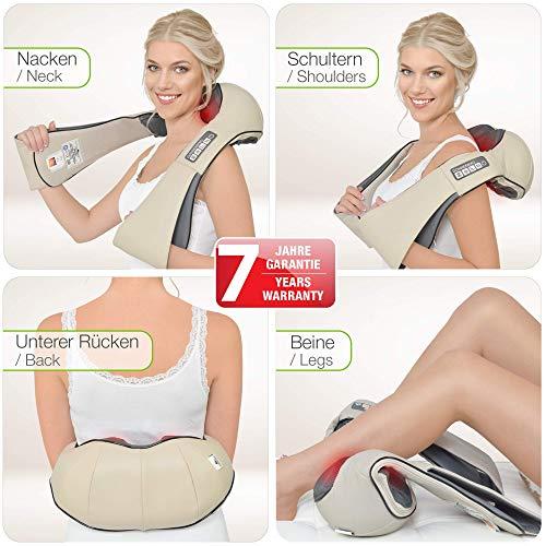 DAS ORIGINAL von Donnerberg – Nacken und Schulter Shiatsu Massagegerät mit Infrarotwärmefunktion - 2