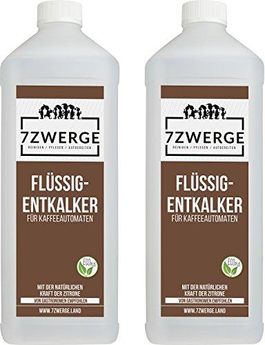7Zwerge I 2 x 1000 ml Flüssig Entkalker für Kaffeevollautomaten I Kaffee-Maschine I...