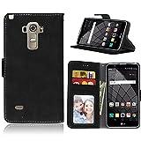 pinlu Funda Para LG Stylus G4 (5.7pulgada) Alta Calidad Función de plegado Flip Wallet Case Cover...