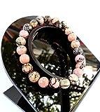 Braccialetto in rodonite, minerale naturale cristallo-terapia, gioiello per donna