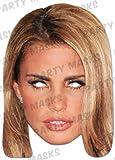 Katie Price - Prominentenmaske - Papp Maske, aus hochwertigem Glanzkarton mit Augenlöchern, Gummiband - Grösse ca. 30x21 cm