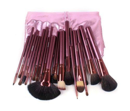 Ensemble de 24 professionnel pinceau maquillage / accessoires maquillage, rose