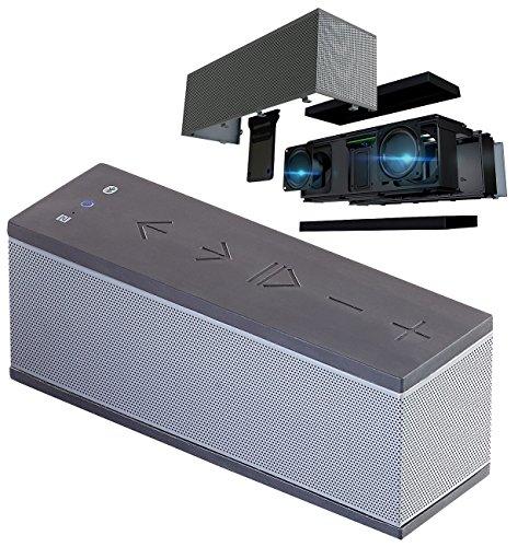 auvisio Speaker, Bluetooth: Stereo-Lautsprecher mit Freisprecher, Bluetooth, microSD, 16W, IPX4 (Kabellose Lautsprecher)