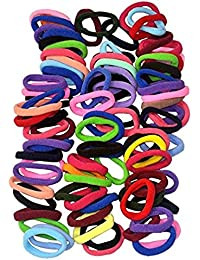Attirefashions 90Pcs 8Mm Multicolor Elastic Hair Ties Bands For Girls